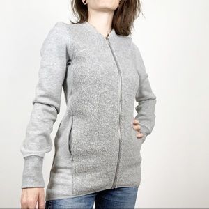 lululemon | Stand Out Sherpa Wool Jacket Grey